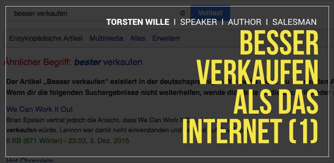Verkaufsgespräch: Besser verkaufen, als das Internet (1)